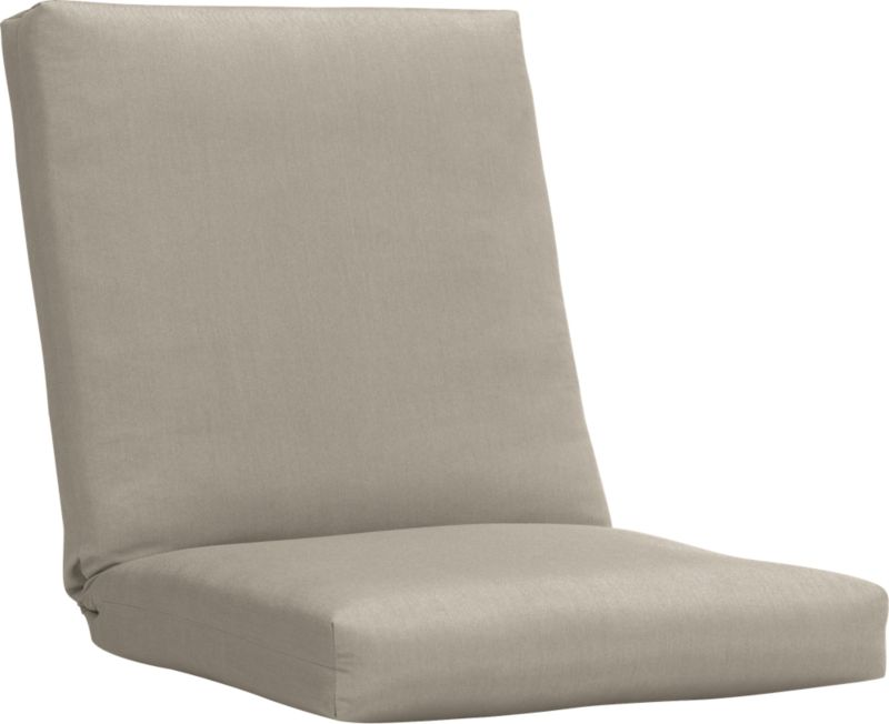 Custom fitted to our Arbor lounge chair, this optional tie-on cushion is fade- and mildew-resistant Sunbrella® acrylic in cool neutral stone.<br /><br /><NEWTAG/><ul><li>Fade- and mildew-resistant Sunbrella acrylic</li><li>Polyester batting and foam cushion fill</li><li>Spot clean the cushion cover</li><li>Cushion is secured with fabric tab fasteners</li><li>Made in USA</li></ul>