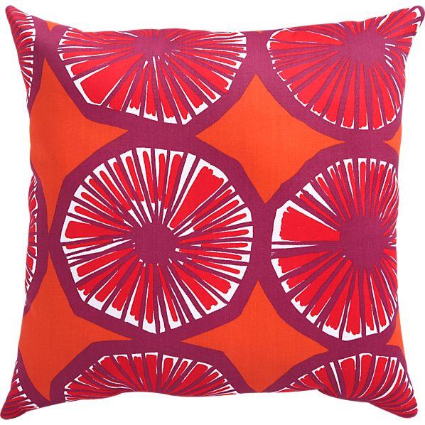 "Marimekko Appelsiini Caliente 20"" Sq. Outdoor Pillow"