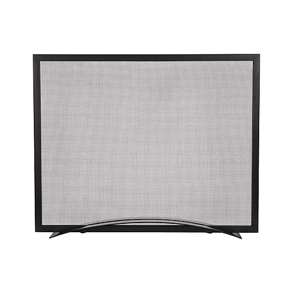 Arch Black Fireplace Screen