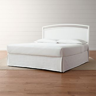 Arch White King Headboard