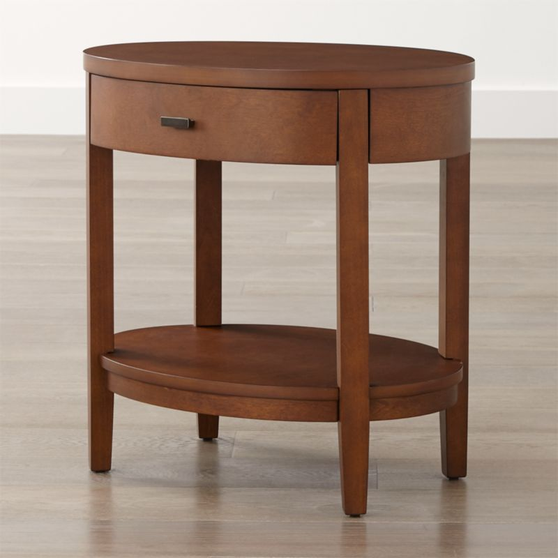 Arch Tea Oval Nightstand With Drawer Crate And Barrel