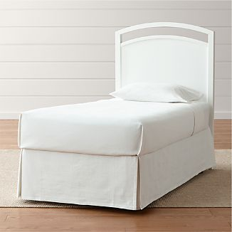 Arch White Twin Headboard