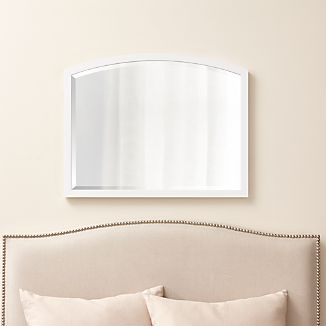 Arch White Wall Mirror