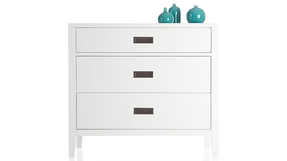Arch White 3-Drawer Chest