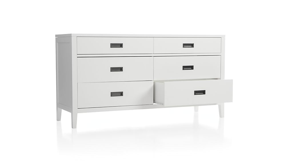 Arch White 6-Drawer Dresser