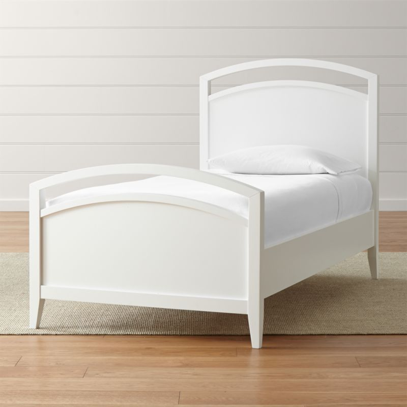 Powell White Twin Bedroom In A Box: Arch White Twin Bed