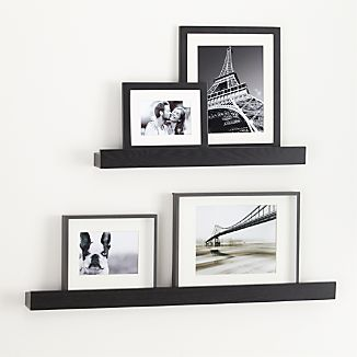 "Archetype 24"" Black Photo Ledge"