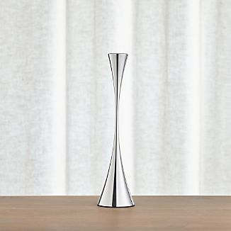 Arden Medium Mirrored Stainless Steel Taper Candle Holder