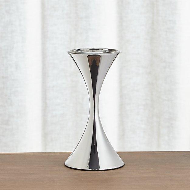Arden Medium Stainless Steel Pillar Candle Holder