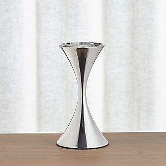 Arden Medium Stainless Steel Pillar Candle Holder