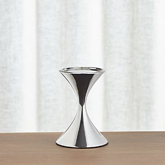 Arden Short Stainless Steel Pillar Candle Holder