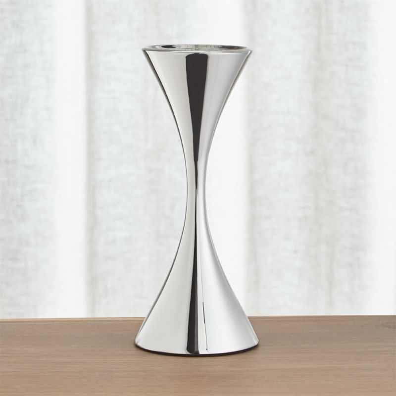 Arden Tall Stainless Steel Pillar Candle Holder Crate