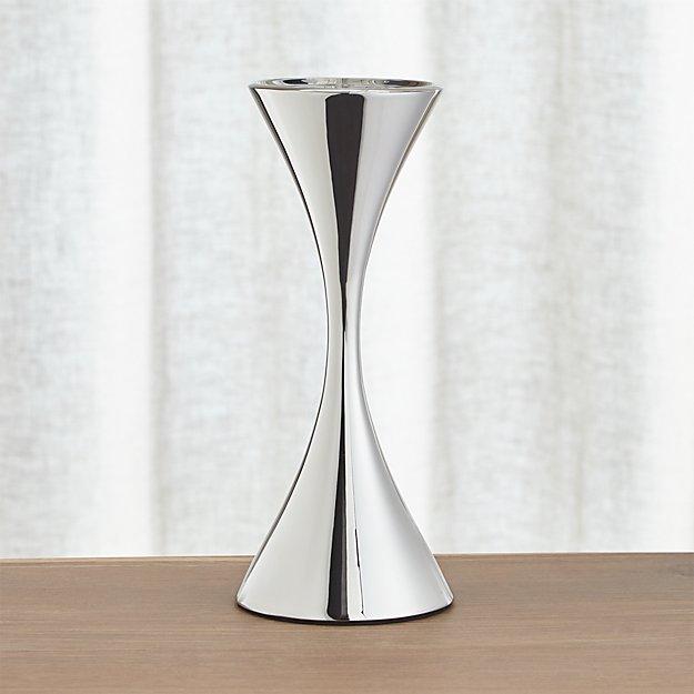 Arden Tall Stainless Steel Pillar Candle Holder