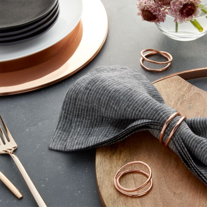 Aria Copper Napkin Ring Crate And Barrel