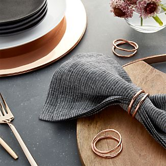 Aria Copper Napkin Ring