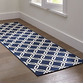 Arlo Blue Indoor/Outdoor Rug Runner