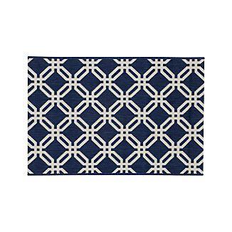 Arlo Blue Indoor/Outdoor 2'x3' Rug