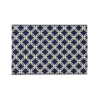 Arlo Blue Indoor/Outdoor 4'x6' Rug