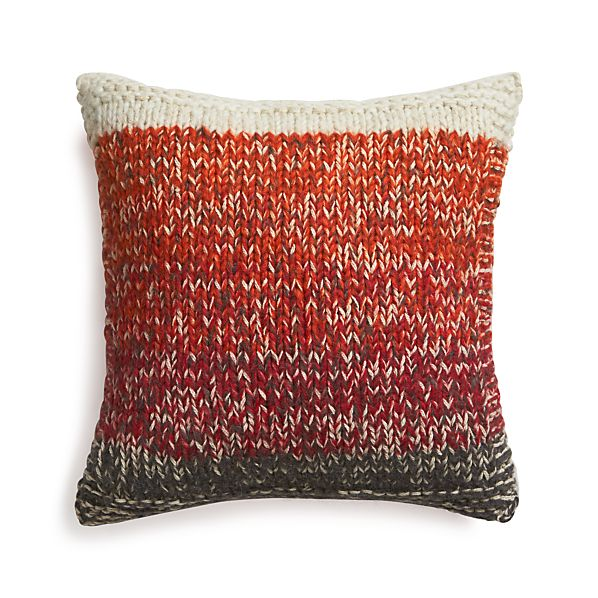 "Arlo Red 20"" Pillow with Feather Insert"