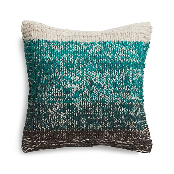 "Arlo Turquoise 20"" Pillow with Down-Alternative Insert"