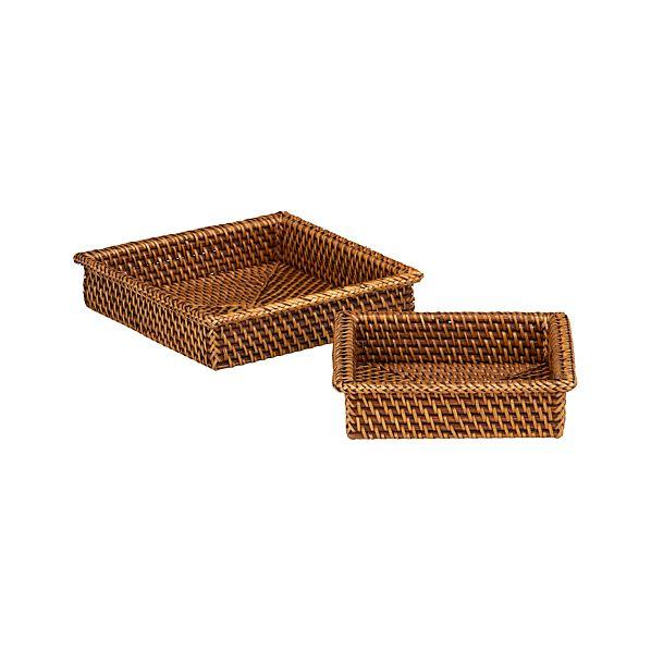 Set of 2 Artesia Napkin Baskets