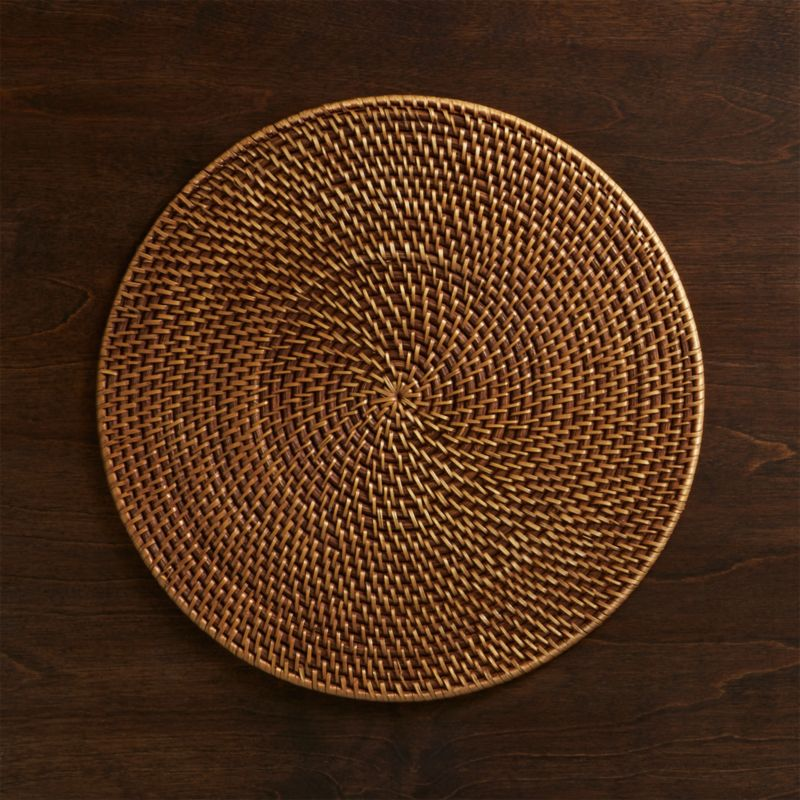 Artesia Round Rattan Honey Placemat