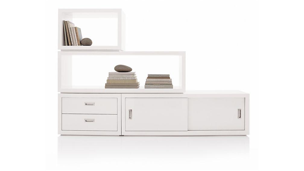 "Ascend II White 27"" Two-Drawer Storage Unit"