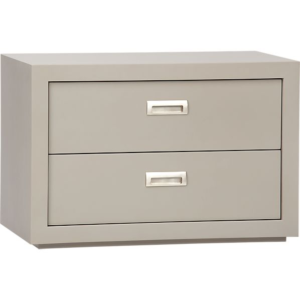 "Ascend Taupe 27"" 2-Drawer Unit"