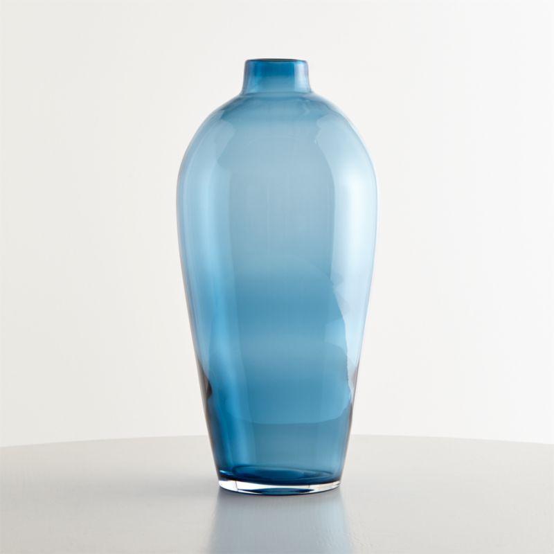 Ashby Large Navy Blue Glass Vase