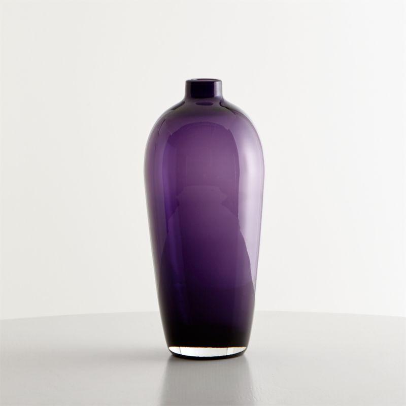 Ashby Medium Amethyst Purple Glass Vase