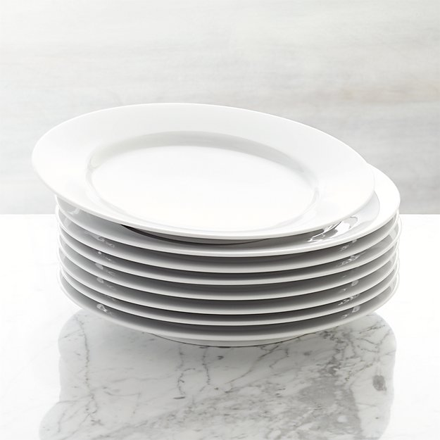 Set Of 8 Aspen Dinner Plates Crate And Barrel