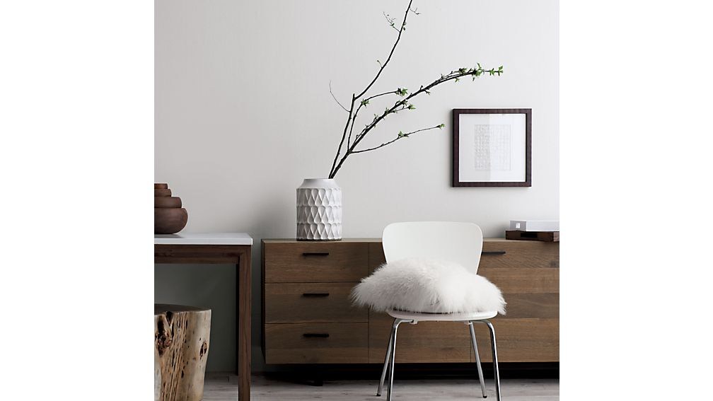 Felix White Dining Chair Crate And Barrel