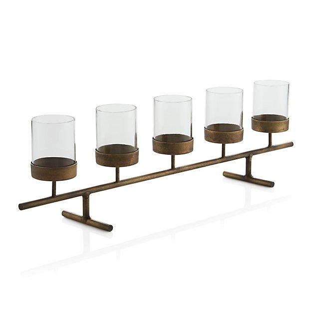 Asta Brass Tea Light Centerpiece Crate And Barrel