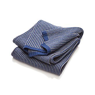 Atticus Blue Striped Throw