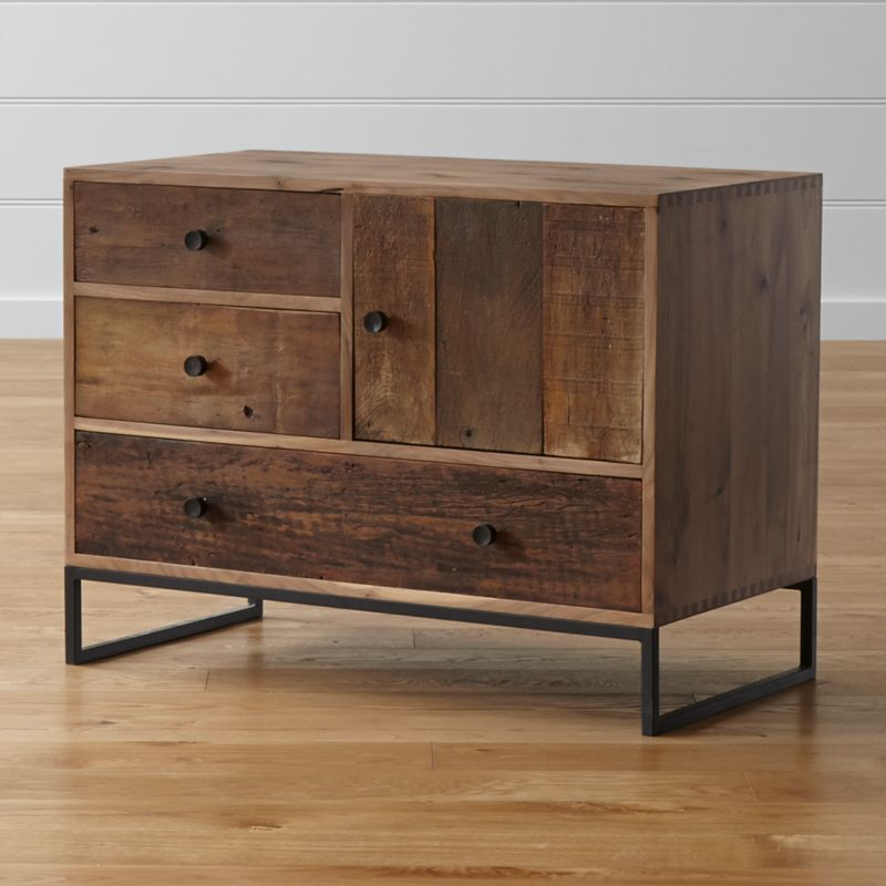 of Wooden Cabinet With Glass Doors picture