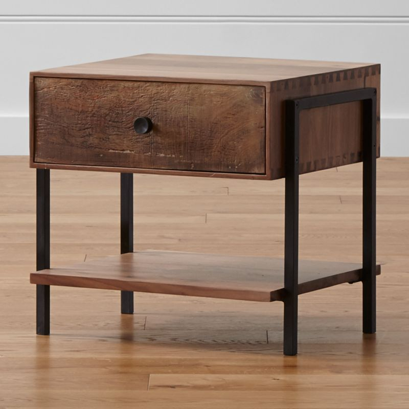 Atwood reclaimed wood nightstand crate and barrel