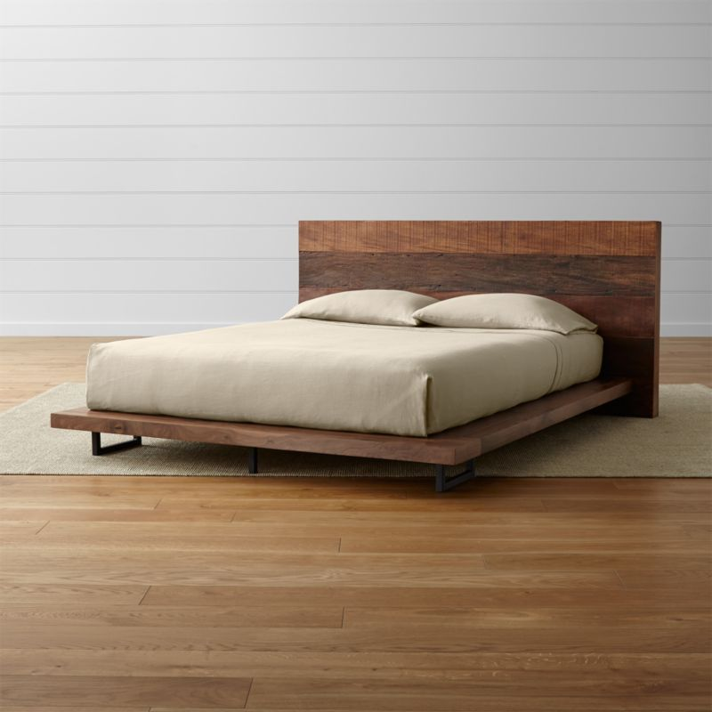 Atwood Bed Without Bookcase Footboard Crate And Barrel