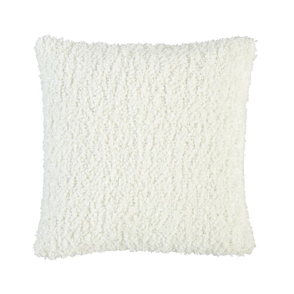 "Aubree Boucle White 18"" Pillow"