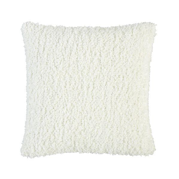 "Aubree Boucle White 18"" Pillow"