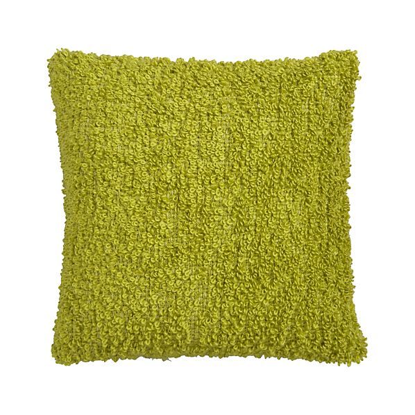 "Aubree Boucle Green 18"" Pillow"