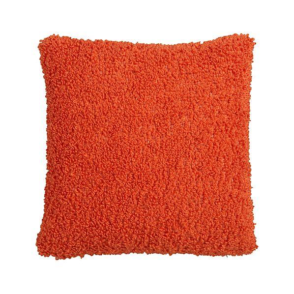 "Aubree Boucle Orange 18"" Pillow"