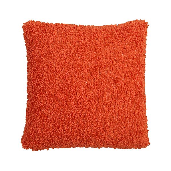 "Aubree Boucle Orange 18"" Pillow"