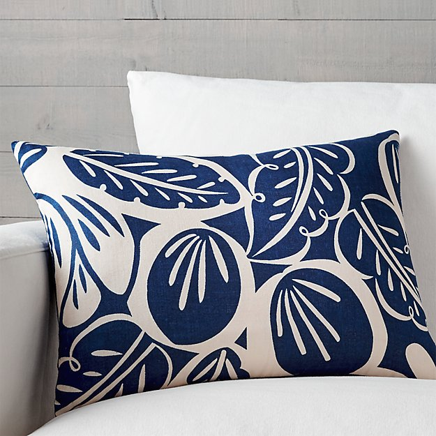 """Audra 22""""x15"""" Pillow with Feather-Down Insert"""