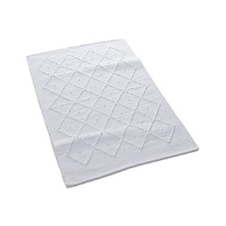 Aurelia White Bath Rug