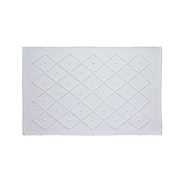 Crate And Barrel Bath Rugs: Aurelia White Bath Rug
