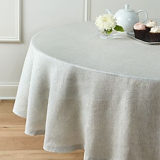 "Aurora Linen 90"" Round Tablecloth"