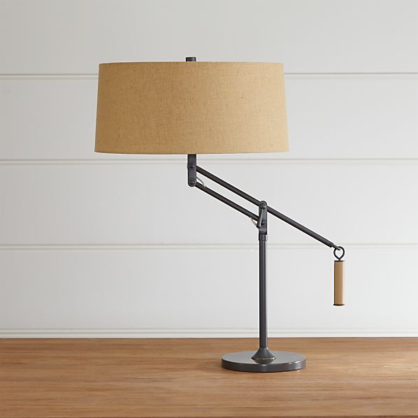 autry table lamp in table desk lamps crate and barrel. Black Bedroom Furniture Sets. Home Design Ideas