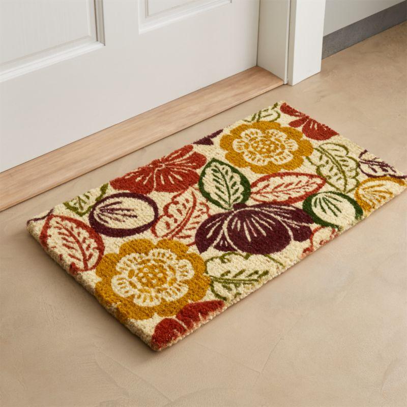 Autumn Bloom Coir Doormat