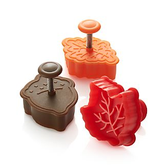 Set of 3 Autumn Pie Crust Cutters