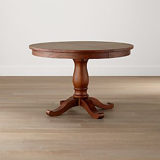 "Avalon 45"" Tea Brown Round Extension Dining Table"